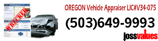Diminished Value Oregon Auto Appraisal insurance dispute value